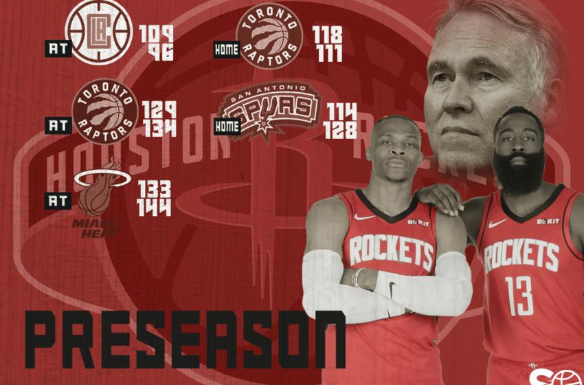 Com'è andata la preseason degli Houston Rockets?