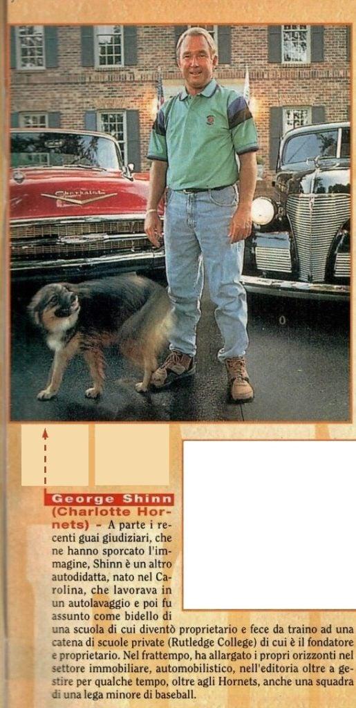 Una descrizione di Shinn da un American Superbasket dell'epoca 90s...