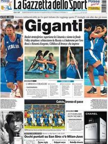 Metà prima pagina dedicata al Basket: mai successo prima, mai successo dopo