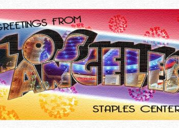 Postcard Staples Center